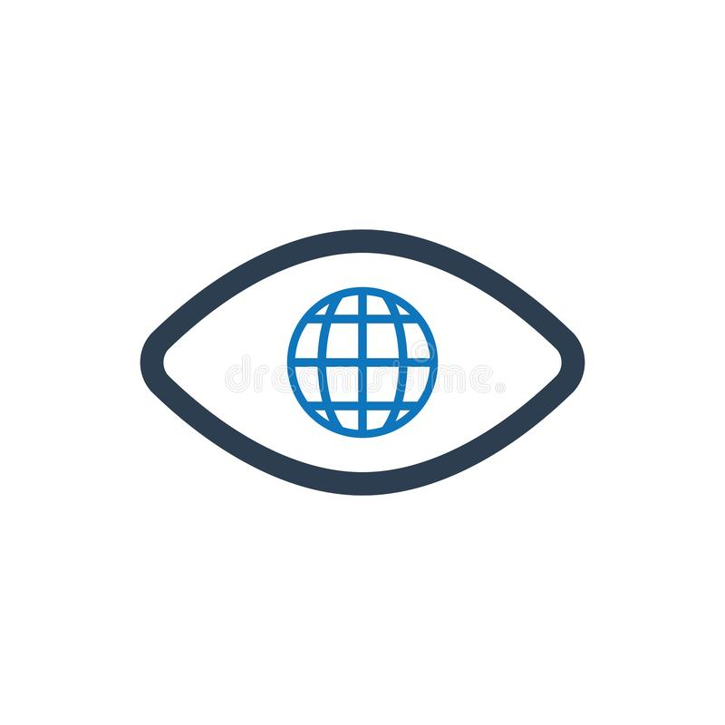 Global vision icon royalty free illustration