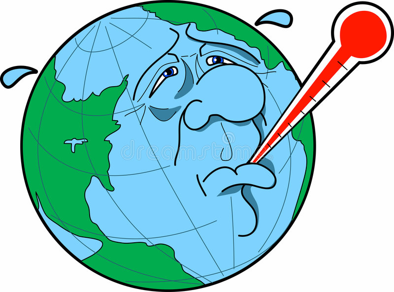 Global_warming ilustración del vector