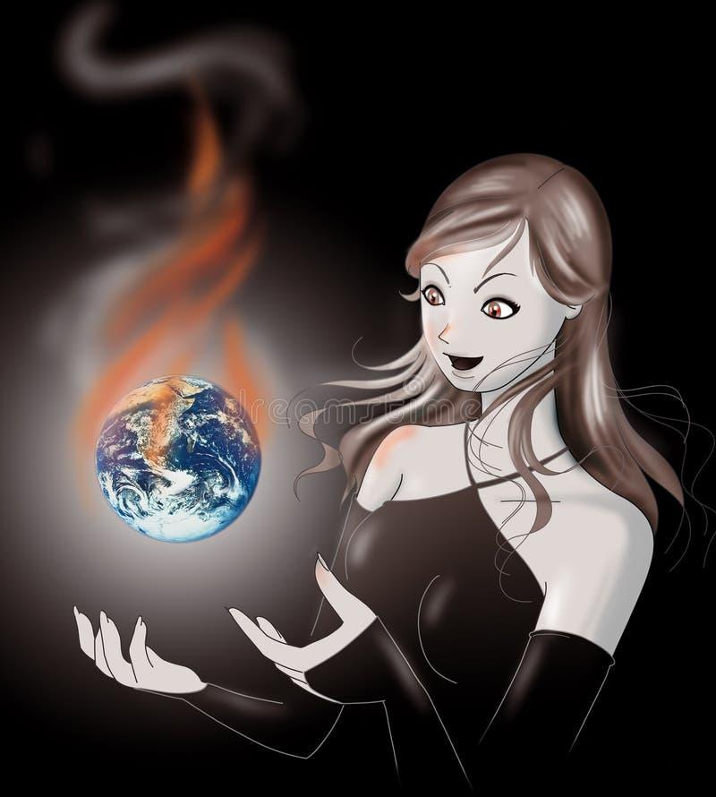 Download Global Warming, Earth In Danger Stock Illustration - Image: 1519865