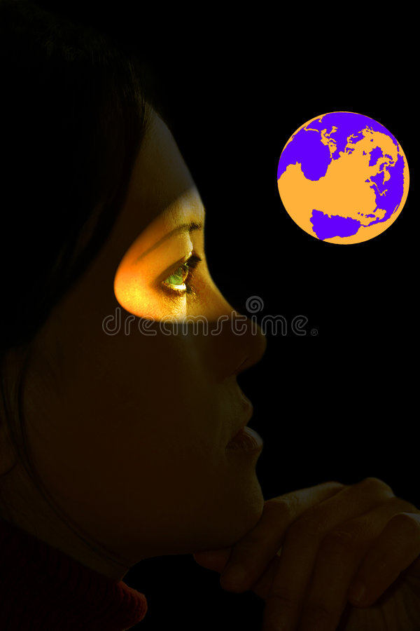 Global Warming. Perception of current global warming headlines. Fit for Third World, optic, visual, future, global atmosphere, climate change, etc. concept stock image