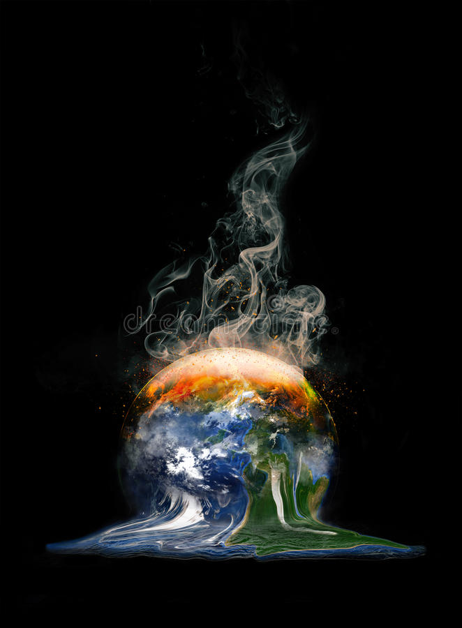 Global Warming Abstract Concept stock illustration