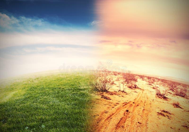 Global warming. Alteration of natural environment and global warming royalty free stock photos