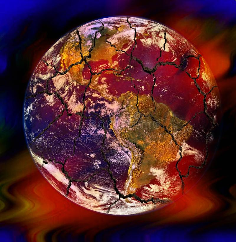 Global warming and climate change concept vector illustration