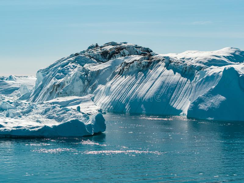 Global Warming and Climate Change - Icebergs from melting glacier on Greenland royalty free stock photo