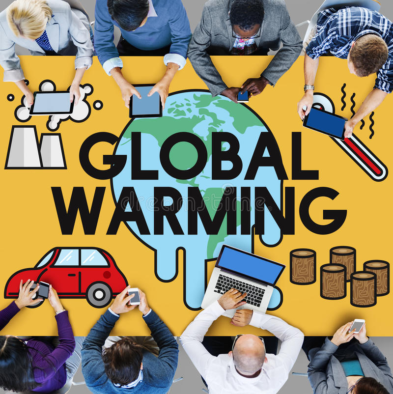 Global Warming Climate Environmental Industry Concept. People Discuss Global Warming Climate Environmental Industry royalty free stock photography