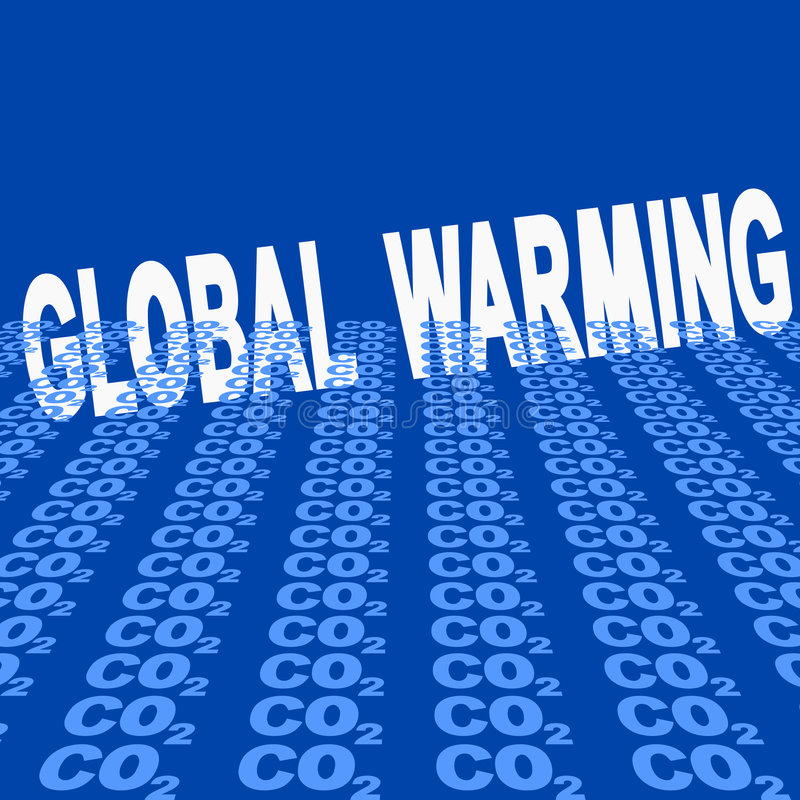 Download Global warming with CO2 stock vector. Illustration of climate - 7177958