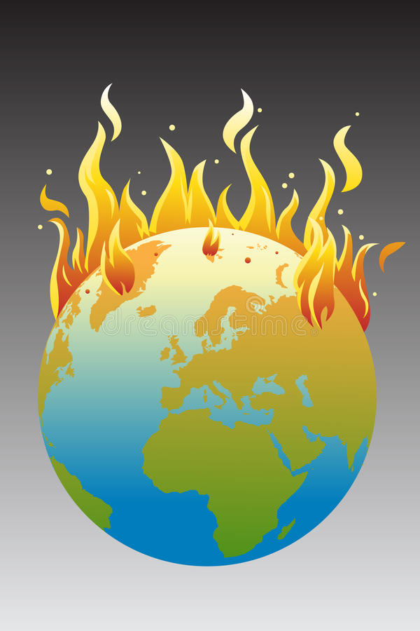 Global warming concept stock illustration