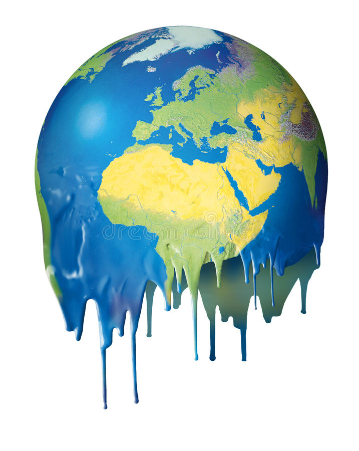 Download Global Warming Concept Planet Melting Royalty Free Stock Photography - Image: 25348267