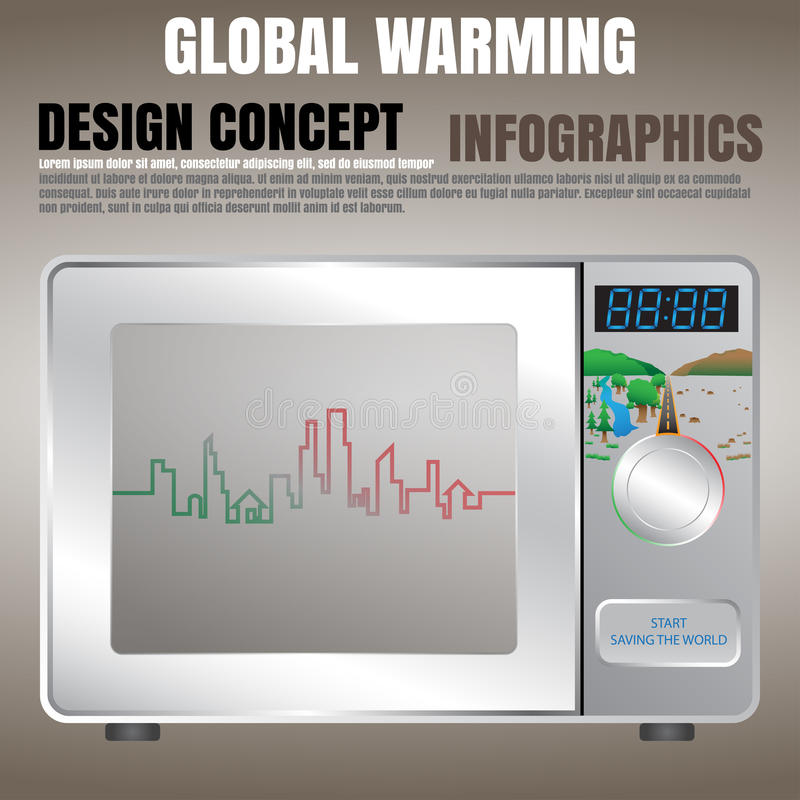 Global warming concept royalty free illustration