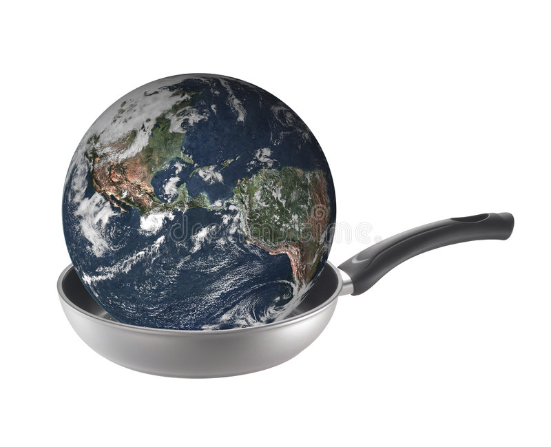 Global warming is cooking earth stock images