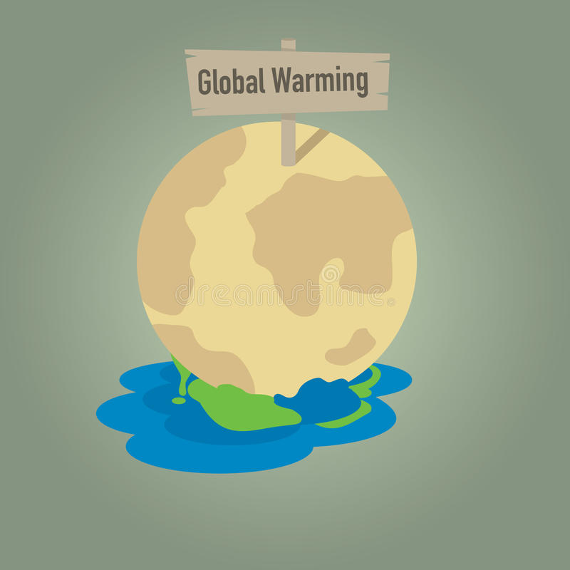 Global Warming With Earth Dissolution Stock Vector Illustration Of
