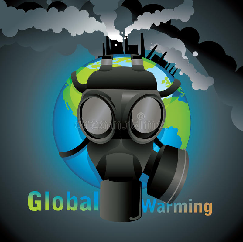 Download Global warming gas mask stock vector. Image of nuclear - 19731762