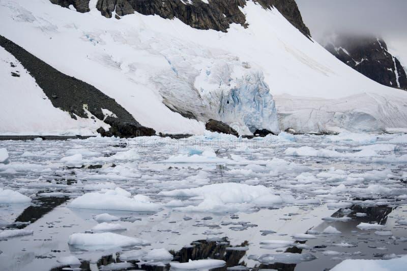 Global warming - Icebergs in Antarctic peninsula, Antarctica stock image