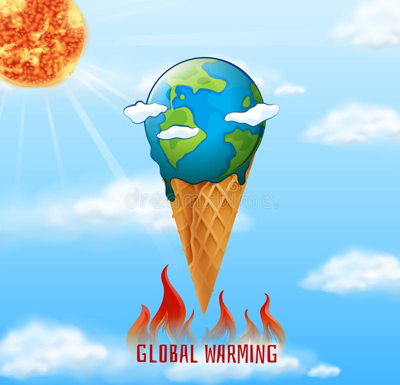 A global warming icon royalty free illustration