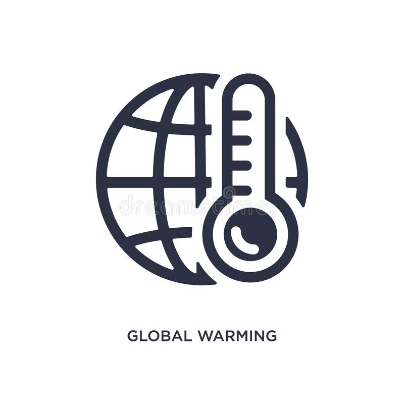 global warming icon on white background. Simple element illustration from ecology concept royalty free illustration
