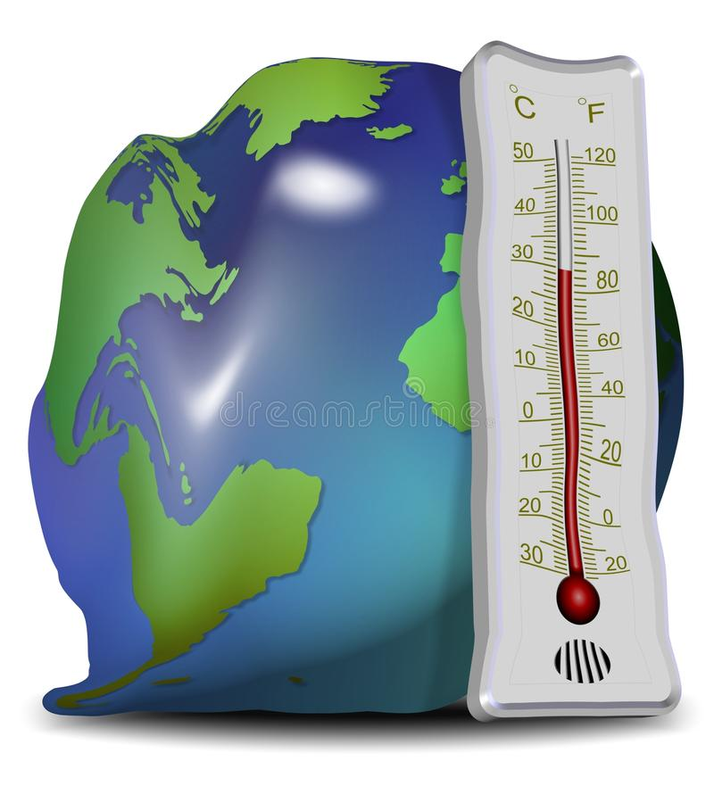 Download Global warming and melting stock illustration. Image of temperature - 25783676
