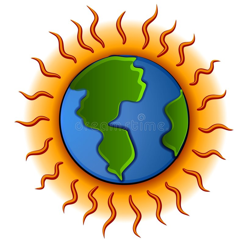 Global Warming Planet Earth royalty free illustration
