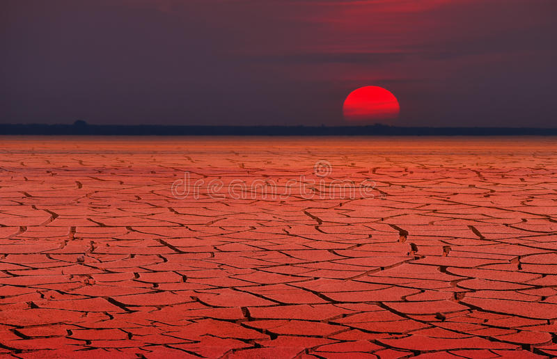 Global warming or Red Heat stock image