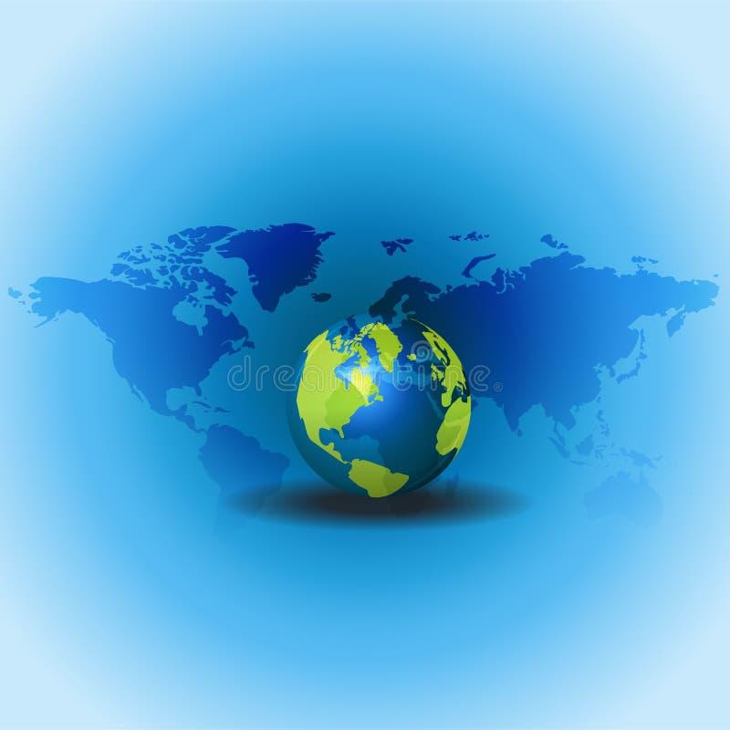 Global&wold-Karte lizenzfreies stockfoto