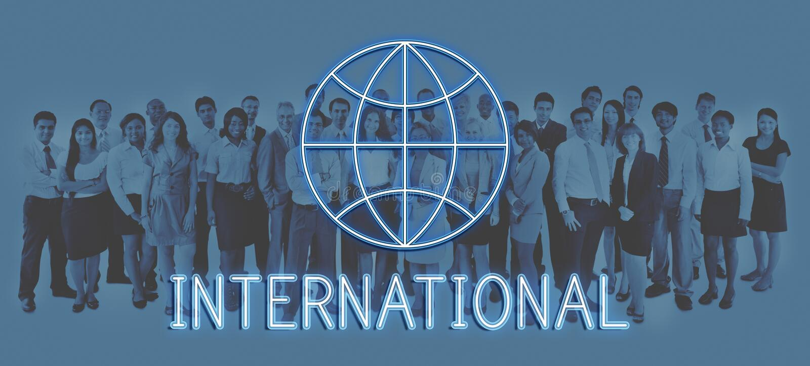 Global World Business Marketing Graphic Icon Concept royalty free stock images