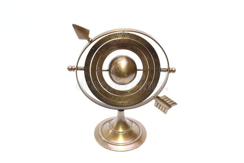 Global zodiak för modell 12 med den metallramen och ställningen arkivbild