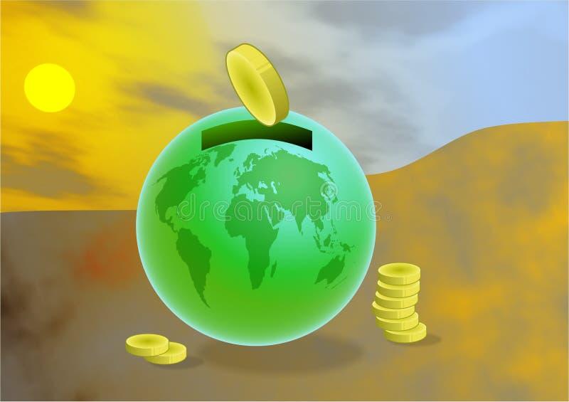 globala besparingar vektor illustrationer