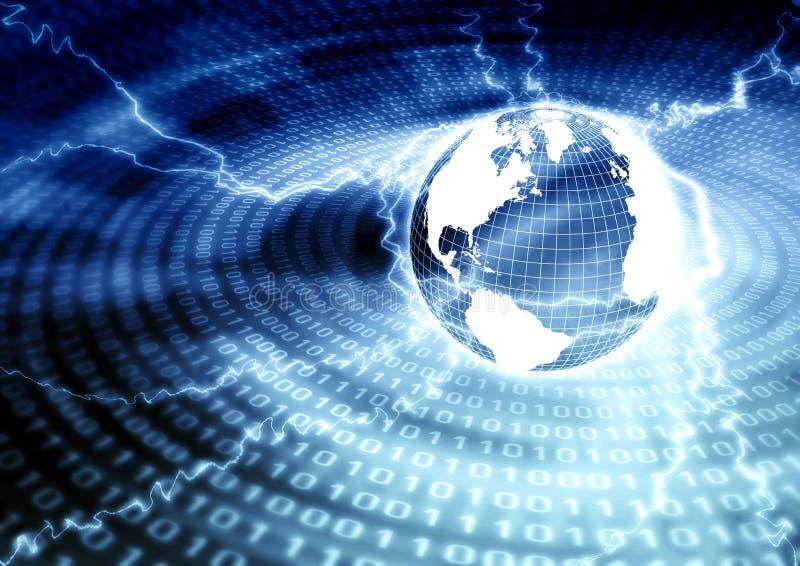 globala internet för begrepp stock illustrationer