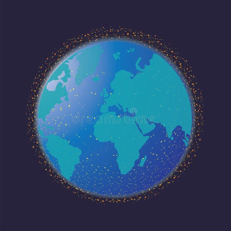 globala internet f?r aff?rsid? royaltyfri illustrationer