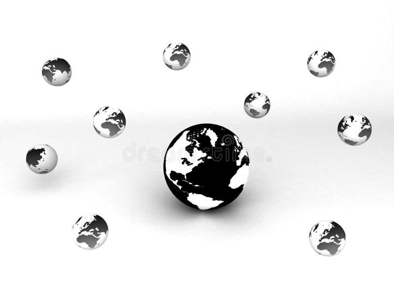 globala kommunikationer stock illustrationer