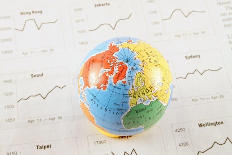 globala marknader arkivbild