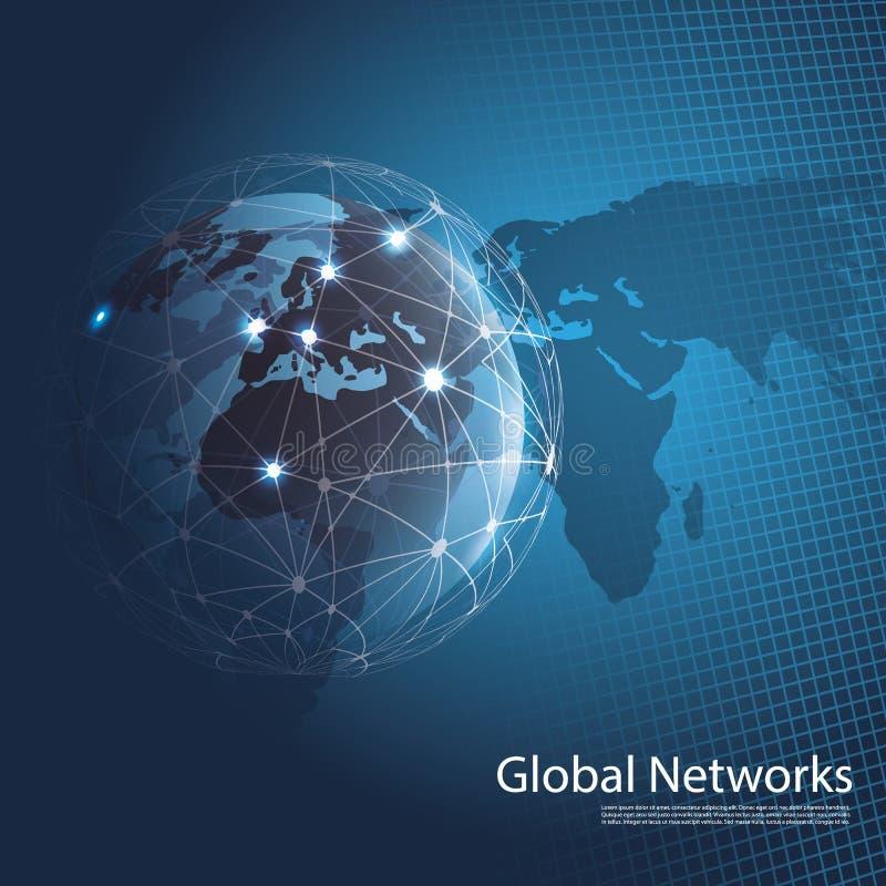 Globala nätverk royaltyfri illustrationer