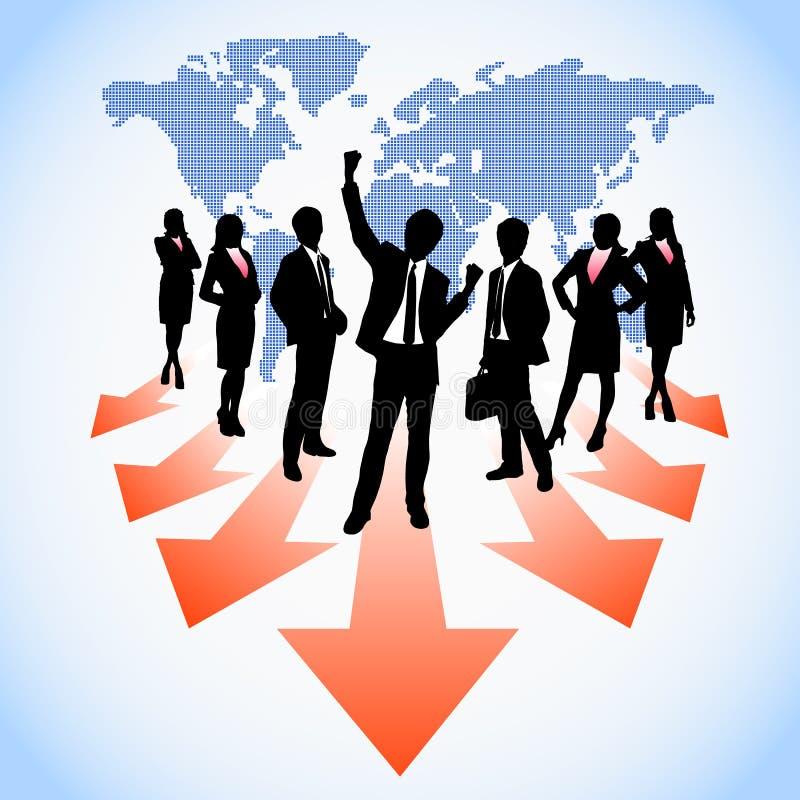 Globala personalresurser stock illustrationer