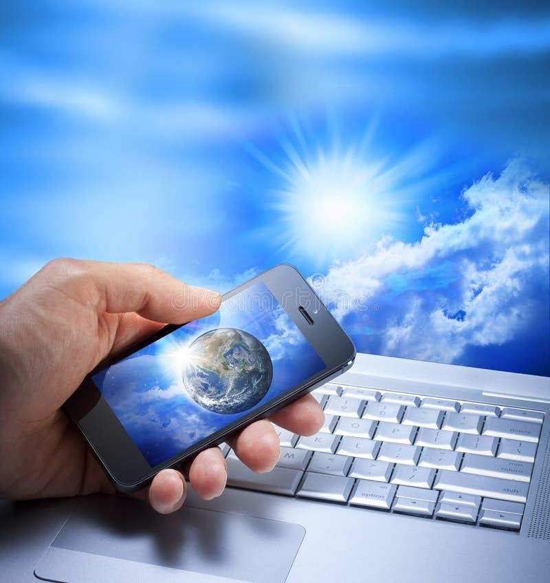Globala telekommunikationar arkivfoton