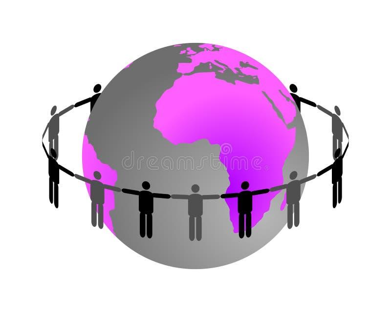 Globale aansluting royalty-vrije illustratie