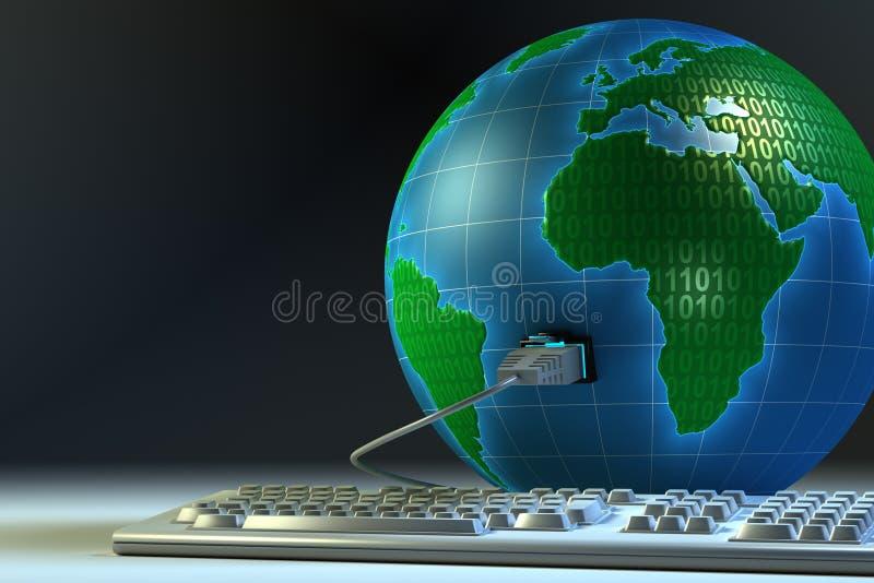 Globale aansluting vector illustratie