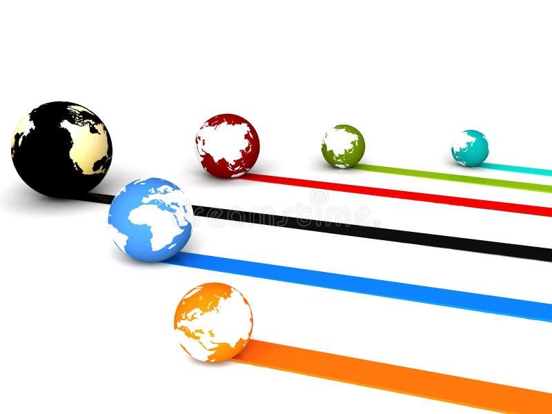 Globale aansluting stock illustratie