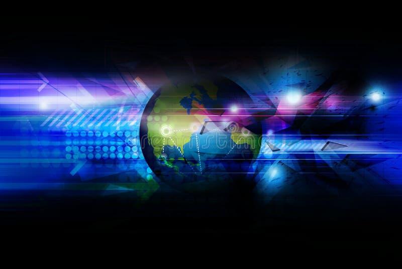 Globale aansluting achtergrond vector illustratie