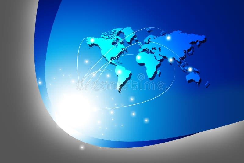 globale aanslutingen stock illustratie