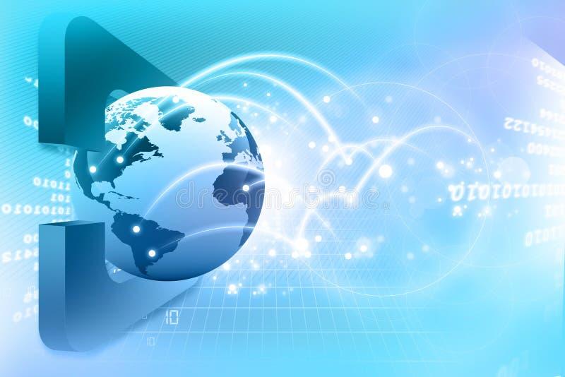 Globale aanslutingen. Digitale aarde stock illustratie