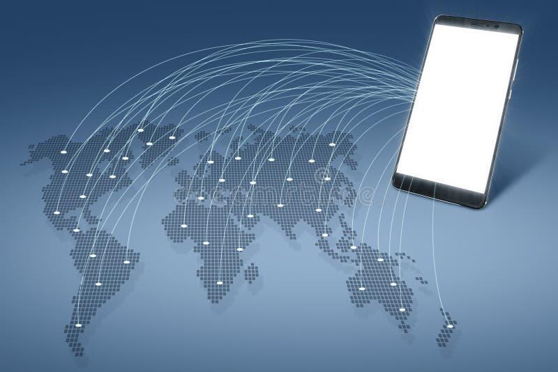 Globale Aanslutingen Mededelingen wereldwijd stock illustratie