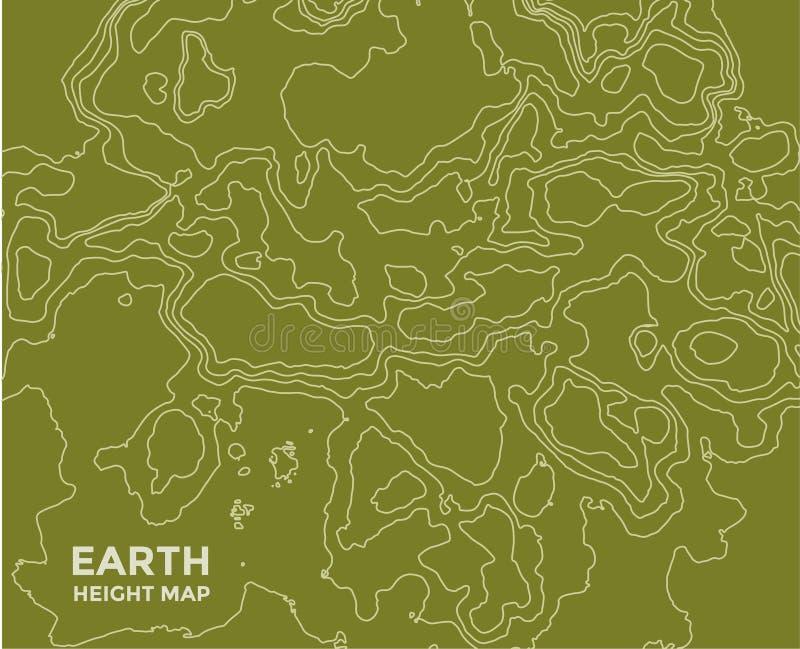 Globale Aarde vectorkaart op achtergrond Textuur vector illustratie