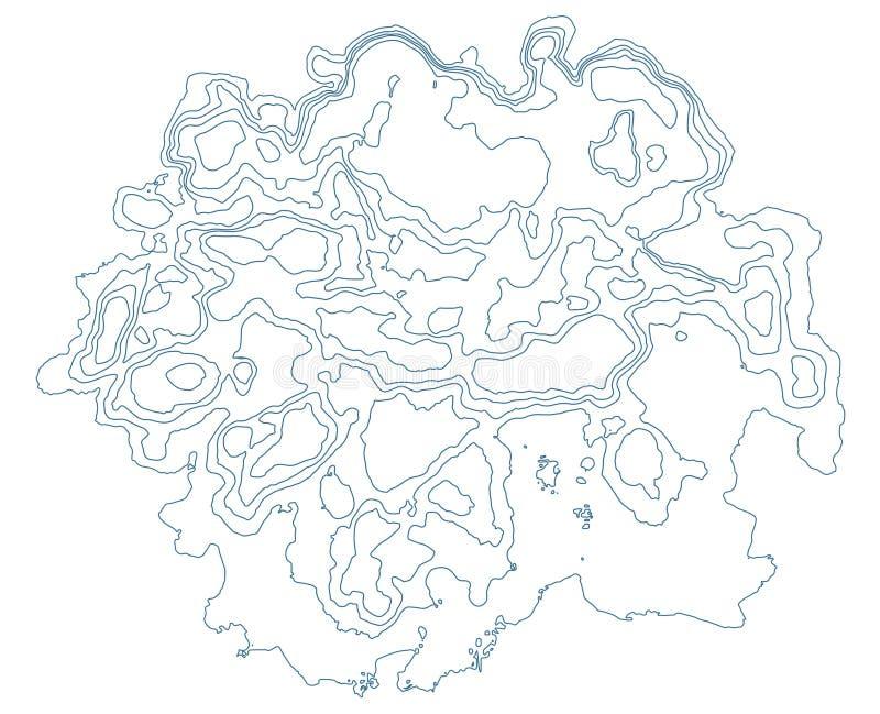 Globale Aarde vectorkaart op achtergrond Textuur stock illustratie