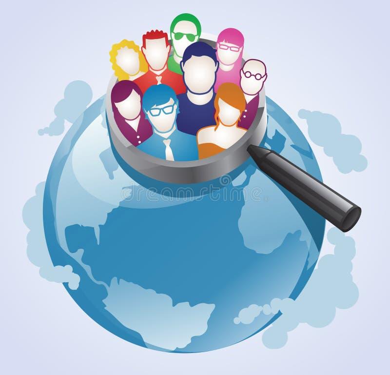 Globale Abnehmer-Recherche lizenzfreie abbildung