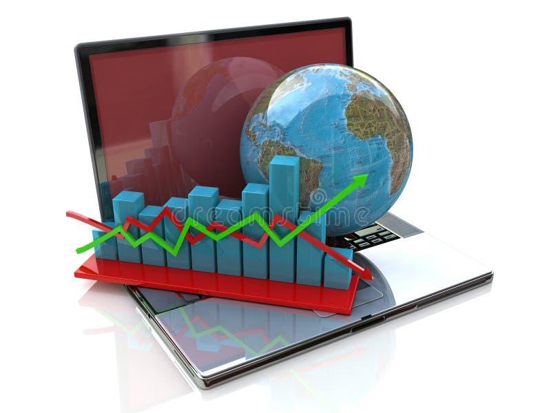 Globale analyse in zaken vector illustratie
