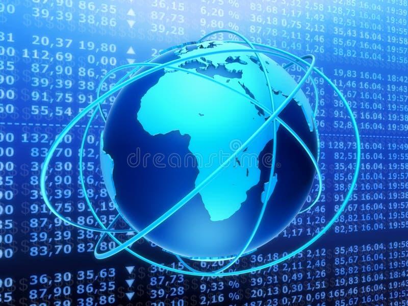 Globale Börse lizenzfreie abbildung