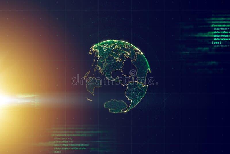 Globale bedrijfs conceptuele achtergrond wereldwijd royalty-vrije illustratie