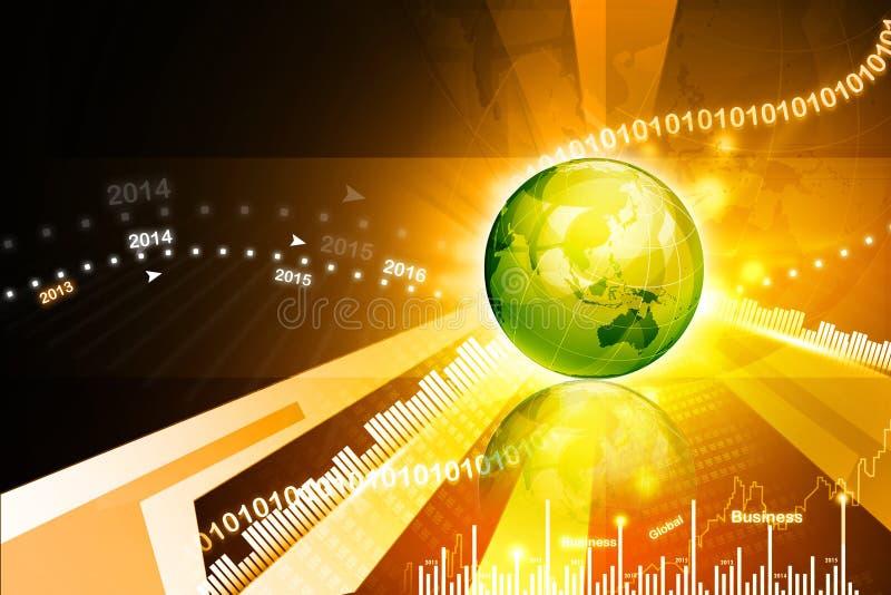 Globale BedrijfsAchtergrond vector illustratie