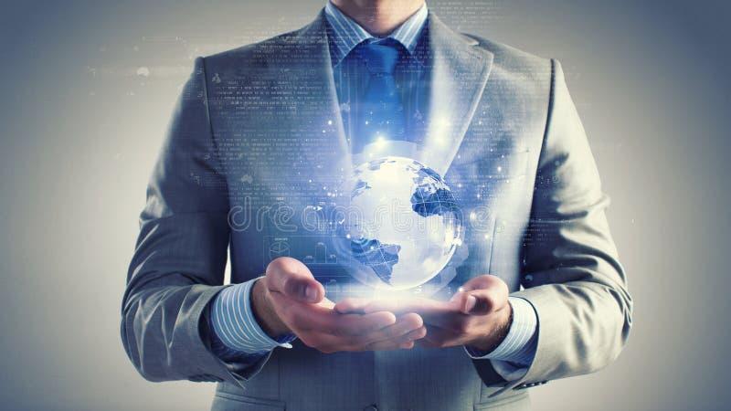 Globale bedrijfstechnologieën stock foto