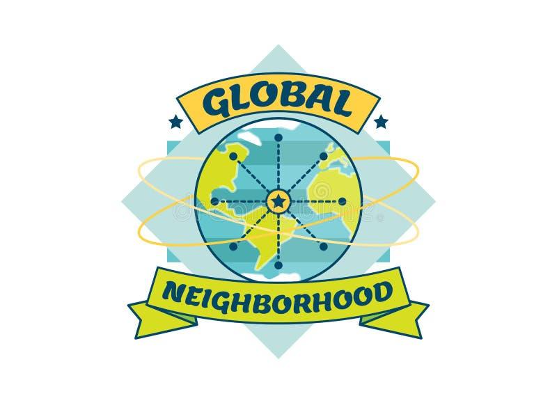 Globale Buurt vectorillustratie stock illustratie