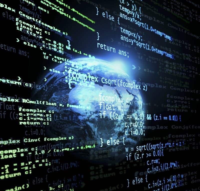 Globale code stock illustratie
